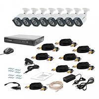 Комплект видеонаблюдения Tecsar 8OUT-3M LIGHT, фото 1