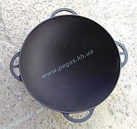 Казан чугунный азиатский 6 литров с чугунной крышкой сковородой, фото 1