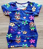 Детская туника-платье ЛОЛ для девочки с боковыми карманчиками размеры 28 и 30, фото 3