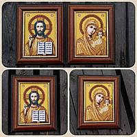 Икона венчальная Господь Вседержитель, ручная работа