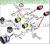 Сайлентблок VW Passat/4Motion/Santana  2006-; VW Passat CC 2009- (комплект14шт) ЗАДНЯЯ ПОДВЕСКА