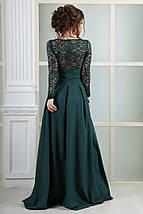 """Длинное вечернее платье """"НИКОЛЬ"""" с гипюром и длинным рукавом, фото 3"""