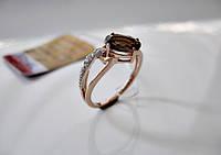 Золотое кольцо с РАУХТОПАЗОМ 2.35 грамма 17 размер ЗОЛОТО 585 пробы