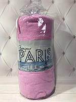 Простынь на резинке, махровая 190*230, цвет розовый, Турция