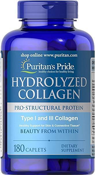 Коллаген Puritan's Pride Hydrolyzed Collagen 1000 mg 180 caps