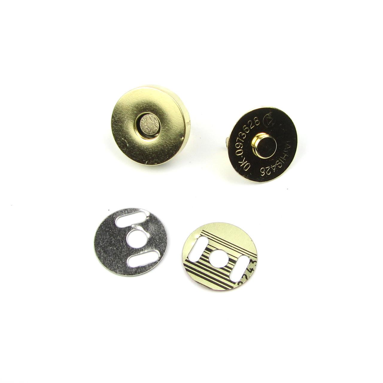 Магнитные кнопки 14мм, золото Пара(2шт)