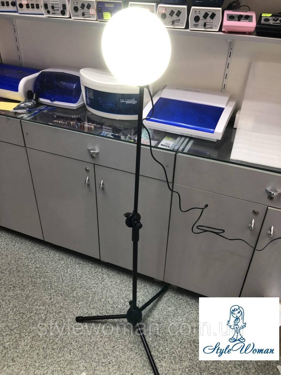 Лампа led студійна 28вт, лампа селфи косметологічна на штативі