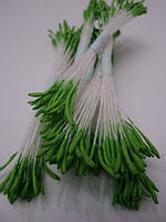 Тычинки для цветов зеленые острые 25шт.(код 01059)