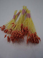 Тычинки для цветов оранжевые односторонние25шт.(код 01098)