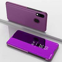 Чехол Mirror для Samsung Galaxy M20 книжка зеркальный Purple