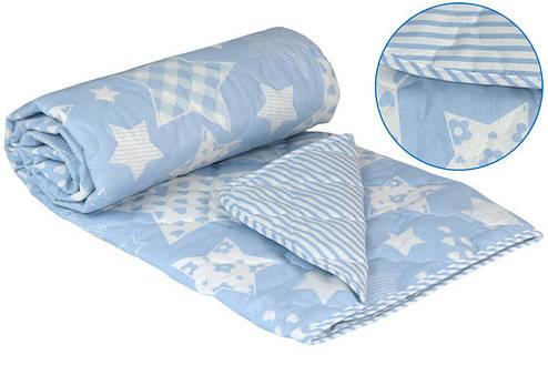 Одеяло Шерстяное полуторное бязь 140x205 Руно 160 г/м2 (321.02ШКУ_Beige star), фото 2