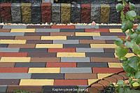 Тротуарная плитка Кирпич узкий - серый