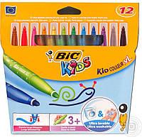 Фломастеры кид кулер XL Bic (12цветов)