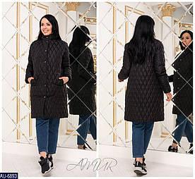 Куртка женская длинная, декор- бусинки. Стеганная плащевка на синтепоне. Размеры 48-50, 52-54, расцветки