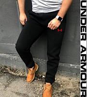Мужские спортивные штаны Under Armour черные без манжетов отличного качества в  стиле  Андер армор
