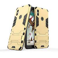 Чехол Iron для Xiaomi Redmi S2 бронированный бампер Броня Gold