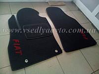 Ворсовые коврики в салон Fiat Fiorino (Черные)