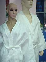 Халат льняной женский белый, фото 1