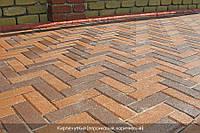 Тротуарная плитка Кирпич узкий - персиковый