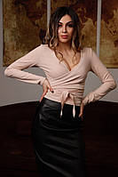 Кофта женская стильная на запах разные цвета Bfv306, фото 1