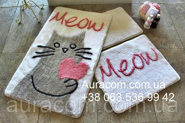 коврики в ванную с котиком