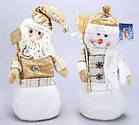Новогодняя мягкая игрушка Снеговик, Санта, 36см BonaDi SN35-40