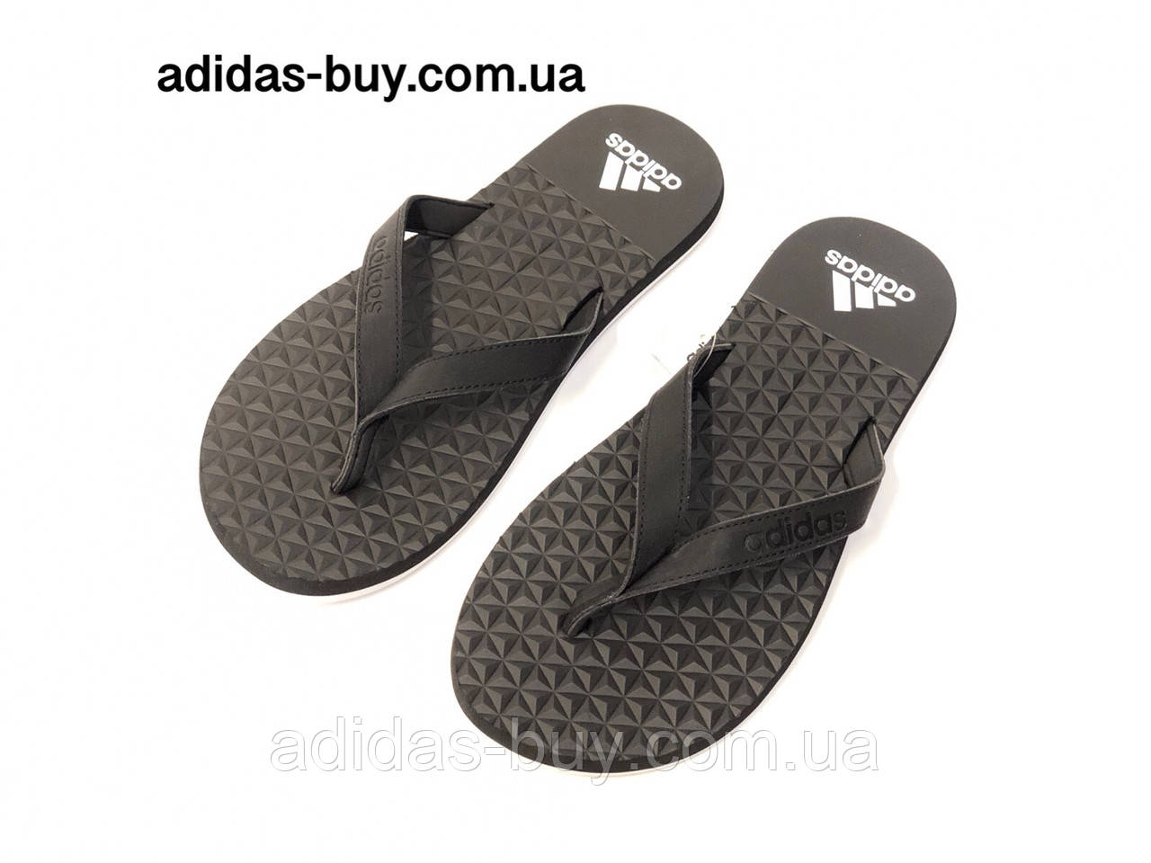 Сланцы тапки вьетнамки мужские adidas оригинал EEZAY SOFT BB0507 цвет:черный