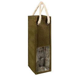 Пакет подарочный из мешковины 10шт/уп под бутылку 38*10*9см R15858 (200шт)