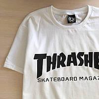 Футболка белая Трешер Thrasher принт реплика