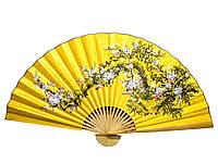 "Веер настенный ""Сакура на желтом фоне ""(90х160см)"
