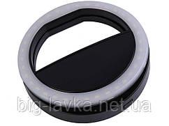 Селфи кольцо LED Icoco для мобильного телефона  Черный