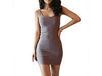 Обтягивающее Женское платье Magic L L Серый