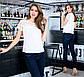 """Элегантная нарядная женская блузка до больших размеров 15155 """"Софт Кокетка Рукава Кружево"""" в расцветках, фото 6"""
