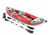 Intex 68309, надувная лодка-байдарка Excursion Pro, двухместная, фото 1