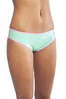 Трусики-шортики латексные с контрастной отделкой Latex Panties With Trim