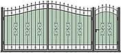 Кованые ворота и калитка  ВД-03, фото 3