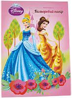 Папір кольоровий металізована(10лист/10цвет)А4 Принцеси P13-253К