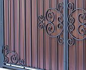 Кованые ворота и калитка  В-06, фото 3