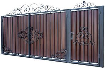 Кованые ворота и калитка  В-06, фото 2