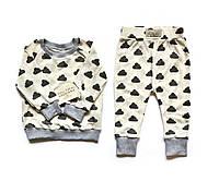 """Дизайнерская пижама Andriana Kids """"Облака"""" (1-4 года)"""