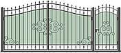Кованые ворота и калитка  ВД-06, фото 3