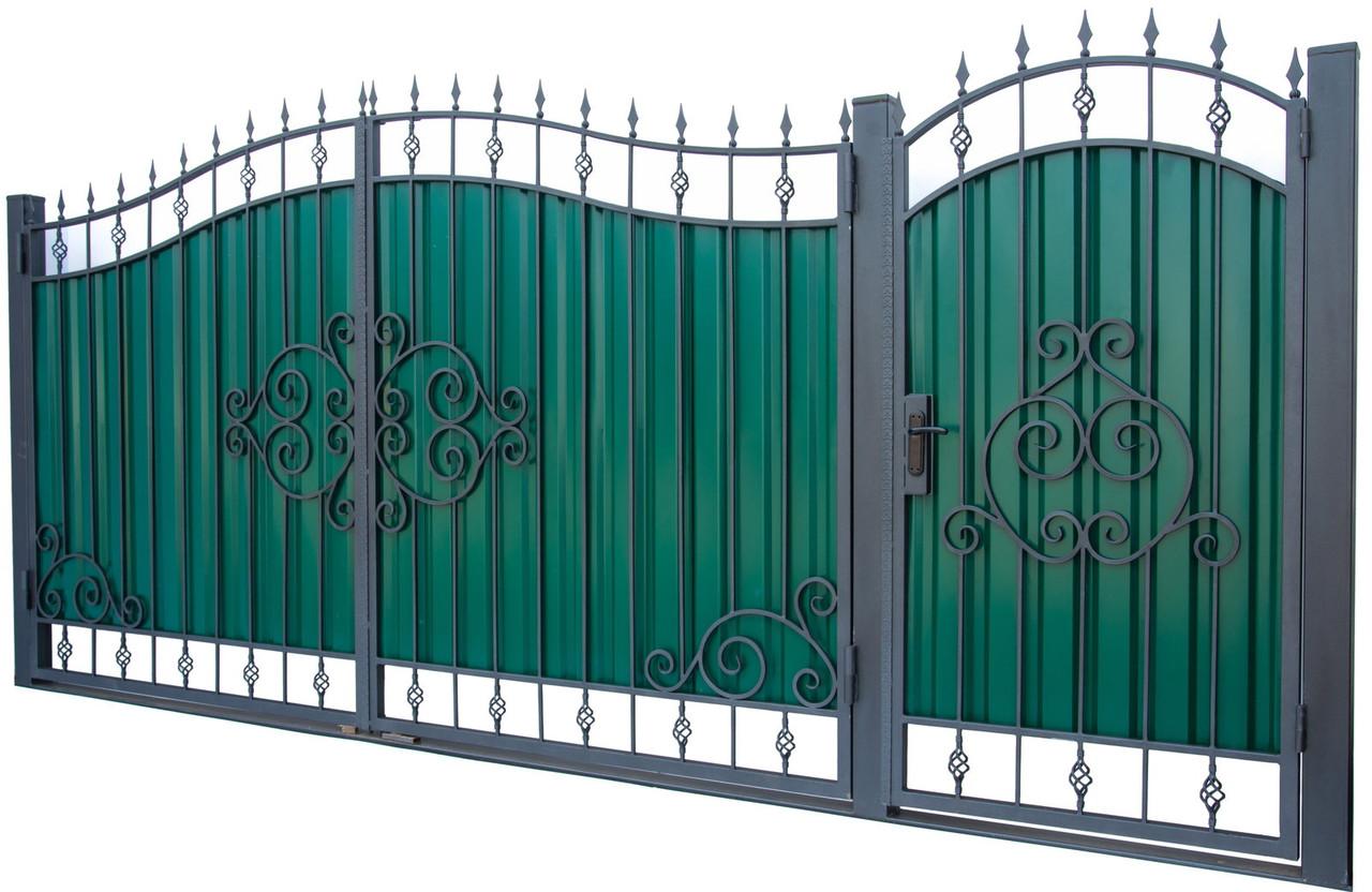 Кованые ворота и калитка  ВД-06