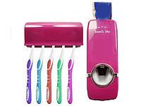 Дозатор для зубної пасти і утримувач для зубної щітки Touch Me  Рожевий