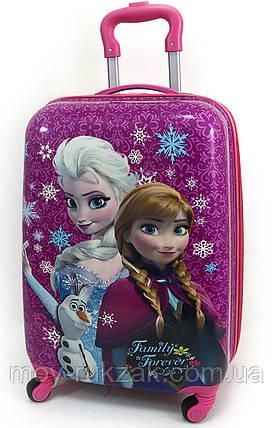 """Детский чемодан дорожный на колесах 18"""" «Холодное Сердце» Frozen-14, 520420, фото 2"""