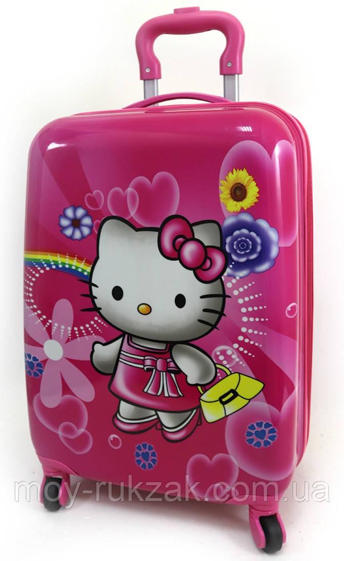 "Детский чемодан дорожный на колесах 18"" «Хелло Китти» Hello Kitty-8, 520425"