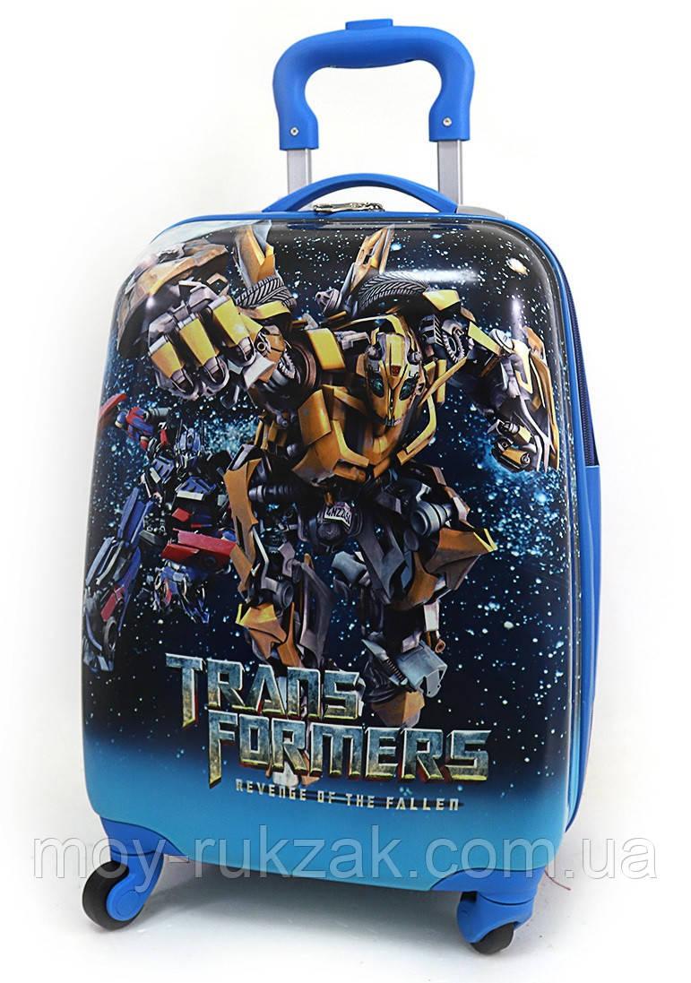 """Детский чемодан дорожный на колесах 16"""" «Трансформер» Transformers-6, 520430"""