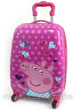 """Детский чемодан дорожный на колесах 16"""" «Свинка Пеппа - 4», 520431, фото 2"""
