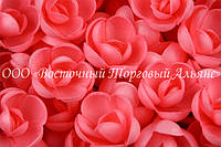 Вафельные цветы «Розы малые красные» 160 шт