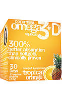 Омега-3, Omega-3 Squeeze Tropical Orange, Coromega, 30 стиков