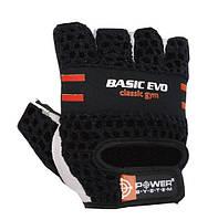Перчатки для фитнеса и тяжелой атлетики Power System Basic EVO PS-2100 Black Red Line